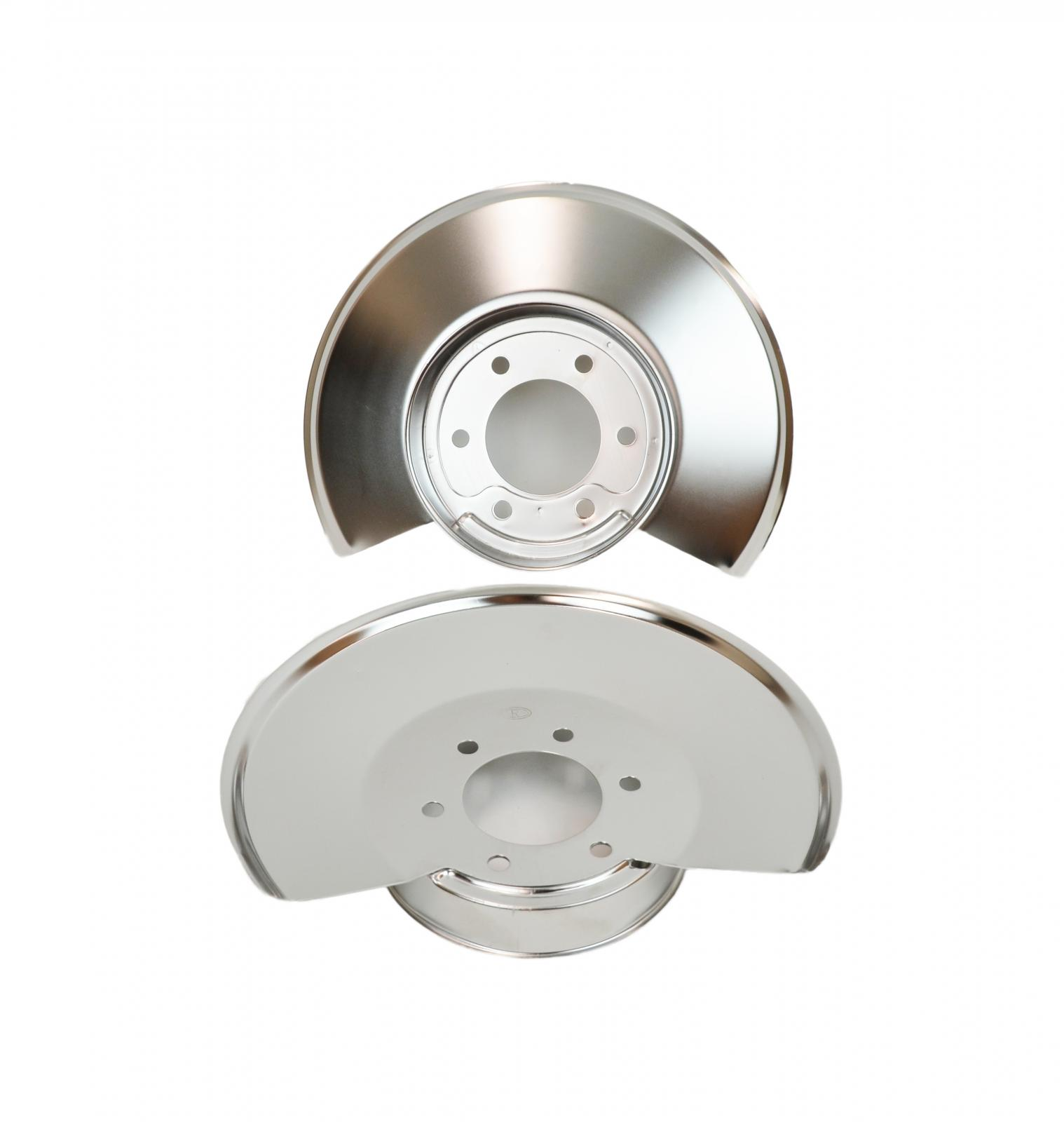 Kentrol 30502 Polished Stainless Steel Disc Brake Dust Covers for 78-86 Jeep CJ7